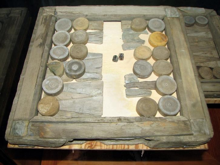 An ancient backgammon set