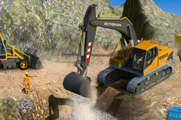 Sand Excavator Truck Driving Rescue Simulator game thumb