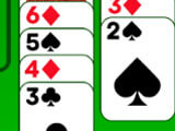 Stacking cards in a sequence