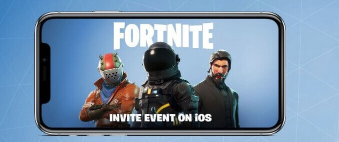 Fortnite invite event iOS