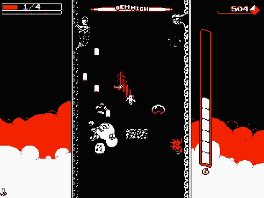 Downwell is a great example of a falling game