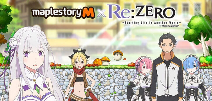 First-Ever MapleStory M Crossover Arrives Today with Popular Anime Series Re:ZERO!