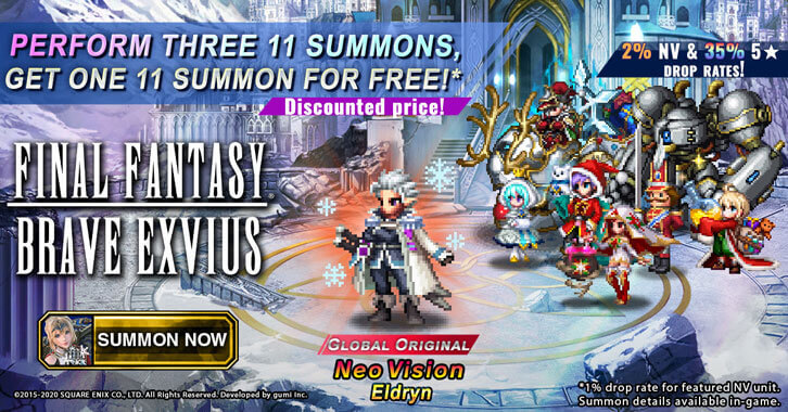Final Fantasy Brave Exvius Winter Celebration Events