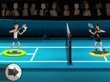 Closely contested game in Badminton League