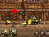 Earning gold and fighting a tank in Metal Slug Infinity