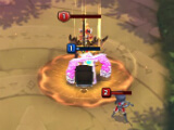 Using a skill on enemy hero in Fantasy Stars: Battle Arena