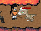 Survival RPG 3 – Lost in Time fighting dinosaurs