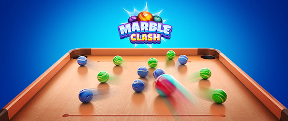 Marble Clash - Take precise aims to pot your marbles in this delightful game that'll keep you coming back for more and more.