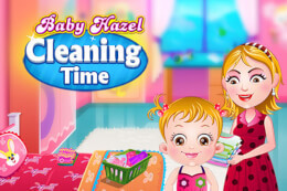 Baby Hazel Cleaning Time thumb