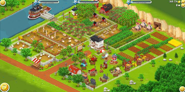 A beautiful yet efficient farm in Hay Day