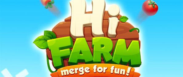 Hi Farm: Merge Fun! - Merge a wide variety of crops to level them up in Hi Farm: Merge Fun!
