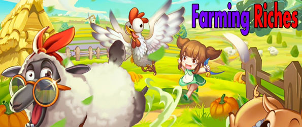 Farming Riches - Harvest crops and work with various buildings to produce feeds and other animal products in Farming Riches!