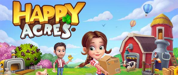 Happy Acres - Grow crops and feed your cute animals in this amazing Facebook Game.