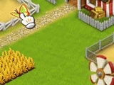 Harvesting crops in the game