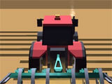 Blocky Plow Farming Harvester ploughing a field