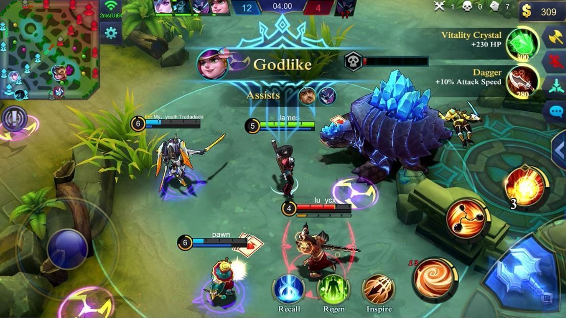Team clash in Mobile Legends