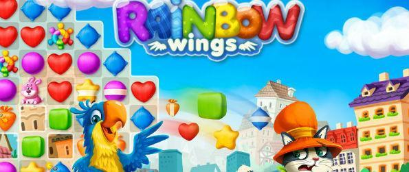 Rainbow Wings - Colorful and entertaining, Rainbow Wings has enough twists and surprises to make it stand out from other match 3 games.
