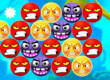 Angry Face Bubble Shooter game
