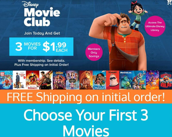 Get 3 Disney movies for $1.99
