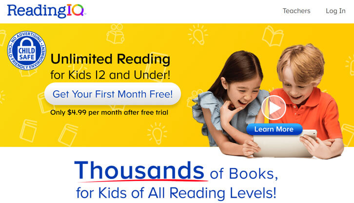 ReadingIQ: Sign Up Now and Get Your First Month for Free!