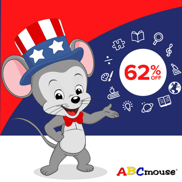 Celebrate the Fourth of July with an Amazing 62% Off on an ABCmouse Annual Subscription!