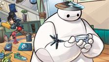 At the mall with Baymax