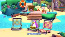 Chilling at the beach in Club Penguin Island