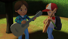 Jamming with Rodrigo in Adventure Academy