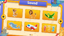 Sound lessons on Kids Piano