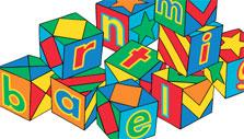 Drag and drop letter blocks