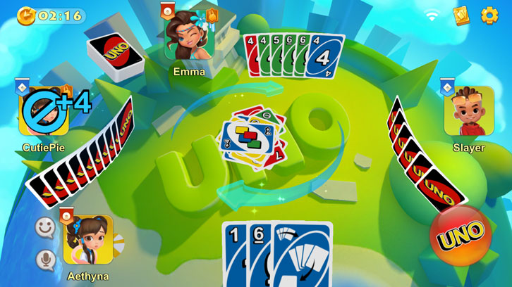 Gameplay in UNO!