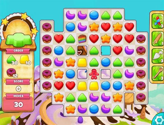 Gingerbread Man level in Cookie Jam