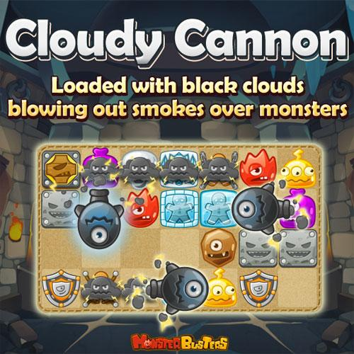 Cloudy Cannon in Monster Buster