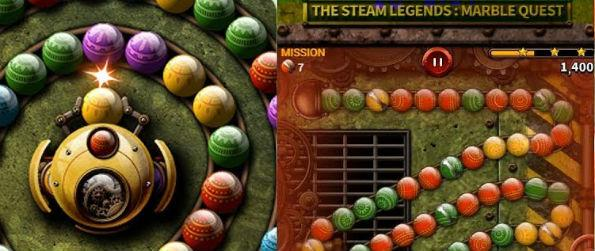 Steam Legend: Marble Quest - Steam Legend: Marble Quest is Zuma on steroids. It gives a great, challenging twist to one of the world's beloved games.