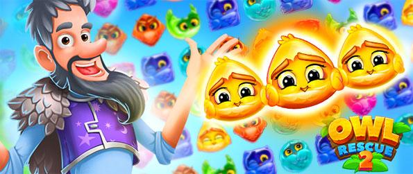Owl Rescue 2 - Play this addicting match-3 game in which you'll embark on an epic quest.