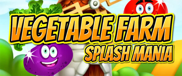Vegetable Farm Splash Mania - Play this fun filled match-3 game in which you'll get to match together colorful vegetables as you progress through it.