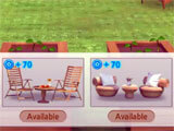 Selecting chairs for garden