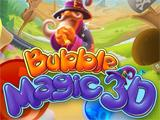 Bubble Magic 3D logo with Wizard