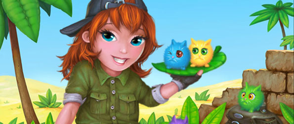 Tabby Island - Link up all the colorful tabby cats to remove them from the board!