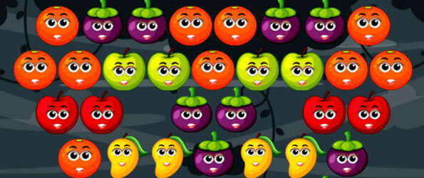 Bubble Shooter Fruits - Enjoy a fun yet challenging fruits-themed bubble shooter game!