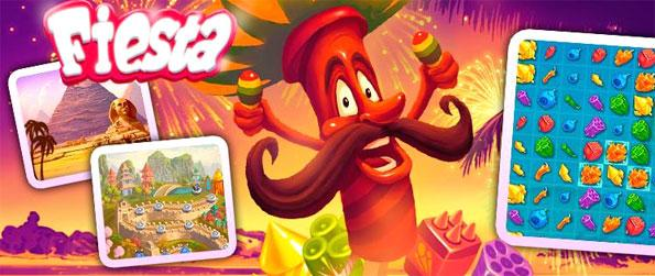 """Fiesta: Match-3 - Join in the festivity and get some """"fiesta"""" cheer in your life by playing this brand new match-3 game, Fiesta: Match-3!"""