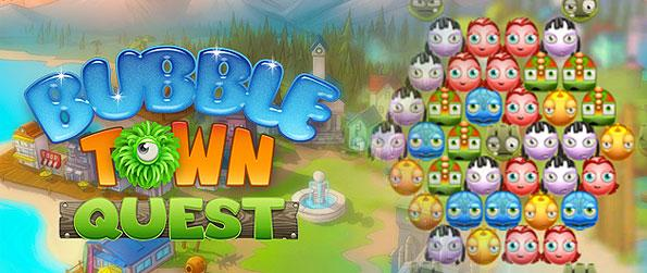 Bubble Town Quest - Play a hero, saving the town of Borb bay, from the relentless attacks of the Borbs trying to conquer it in this wonderful bubble shooter game!