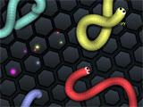 Slither.io lots of snakes