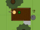 Hiding in a building in Surviv.io