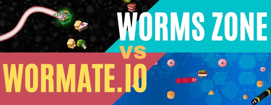 Differences between Wormate.io and Worm Zone large