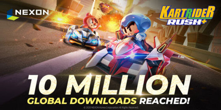 KartRider Rush+ Surpasses 10 Million Global Downloads Within Two Weeks!