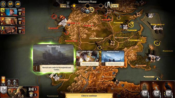 A Game of Thrones: The Board Game - Digital Edition is launched on Steam
