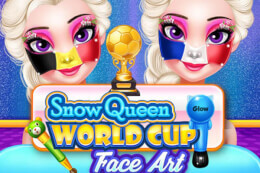 Snow Queen World Cup Face Art thumb