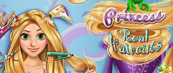 Princess Real Haircuts - Get to play hair dressing with our adorable Rapunzel and her wildly tangled up hair in this wonderful simulation game for kids!