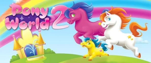 Pony World 2 - Enjoy a wonderful world of ponies and fun in this downloaded game for you to own.